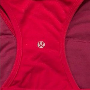 Hot pink Lululemon Yoga surplice tank top